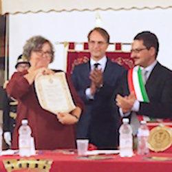 """Cittadinanza onoraria ad Antonia Brancati: """"Segno d'amore verso mio padre"""""""