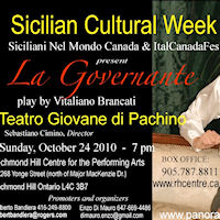 Ad ottobre Toronto celebra la Sicilian Cultural Week 2010