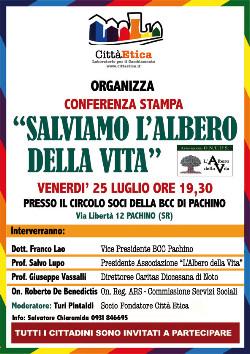 """Conferenza Stampa: """"Salviamo L'Albero della Vita"""""""