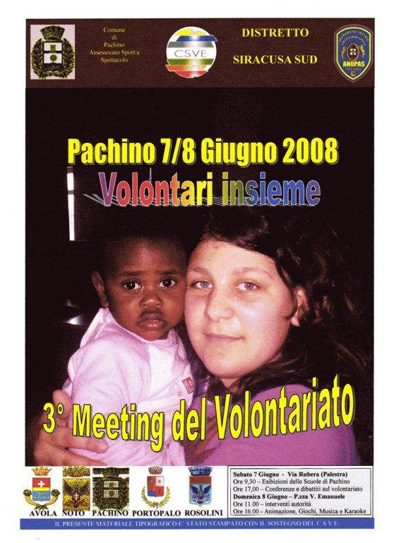 3° MEETING DEL VOLONTARIATO A PACHINO