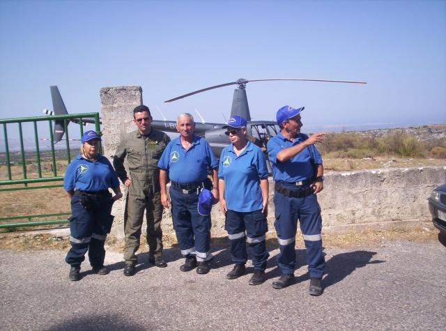 Avvistamento incendi squadra Anopas Pachino