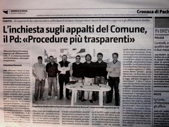 """L'inchiesta sugli appalti del comune, il PD: """"Procedure più trasparenti"""""""