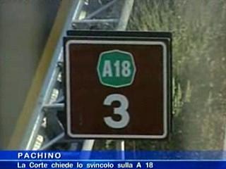 La Corte chiede lo svincolo sulla A18