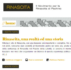 Ritorna on line rinascitadipachino.it