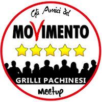 """Comunicazione del Meetup """"Grilli pachinesi""""."""