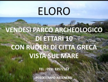 Dopo l'Ospedale Trigona tocca al Parco Archeologico di Eloro e della Villa del Tellaro